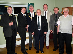 Town and District Councillors with the Burgermiester from Lahnau