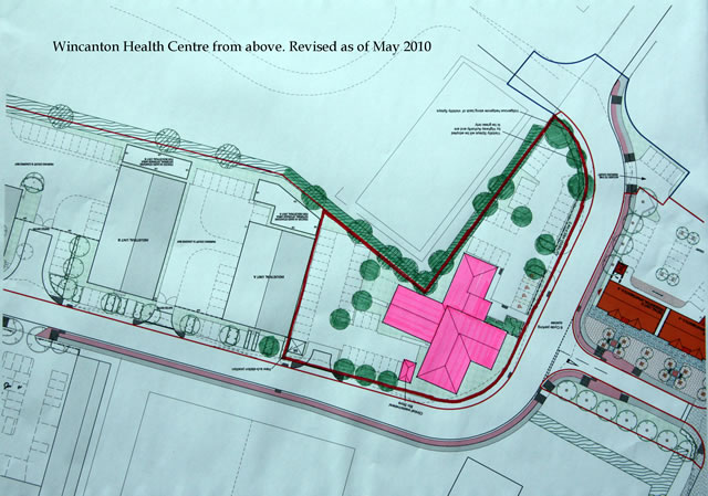 The layout of the new Health Center