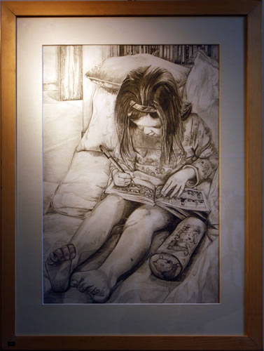 Sophie George's drawing won her the Art Society prize for the best student work from the school.