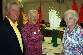 Wincanton Gardeners' Association Annual Show organiser Marcus Giles, Association Secretary Jane Findley and Membership Secretary Sylvia Pleasants