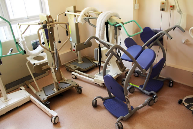 Mobility equipment enables the frail to move around