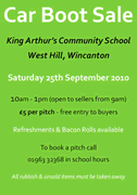 Friends of King Arthur's Car Boot Sale