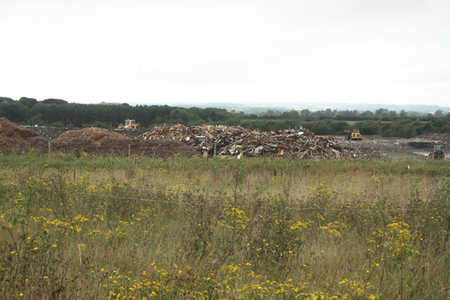 The contrasting view of the refuse site