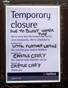 "NatWest ""Closed 'till Further Notice"" ?"