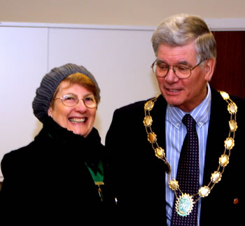 Mayor, Richard D'Arcy with his wife Gill
