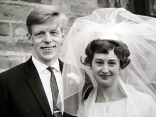 A photo from their wedding