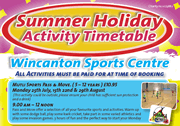 Summer Holiday Fun at Wincanton Sports Centre
