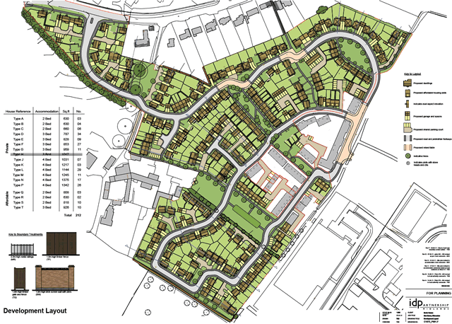 Complete plan view of the New Barns development