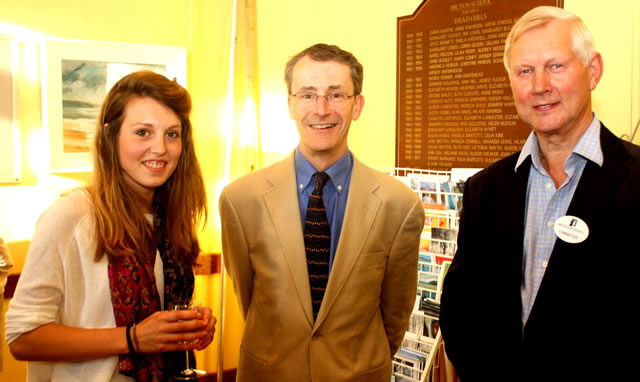Sophie Bowen, Headmaster John Burrough and Clive Dand