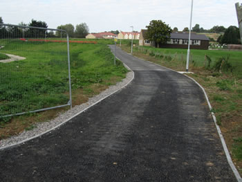 One of the new footpaths