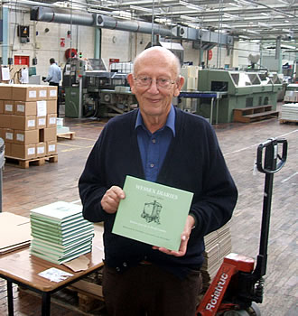 John Vallins, holding a copy of his new hardback book