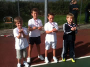 Mini Tennis Teams Have Fun at Wincanton Tennis Club
