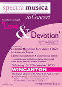 Spectra Musica 'Love & Devotion' Winter Concert