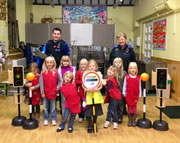 Police Beat Team Promotes Winter Road Safety