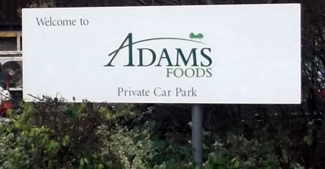 Adams Foods sign