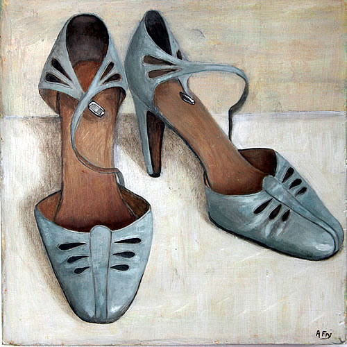 Painting of ladies' shoes