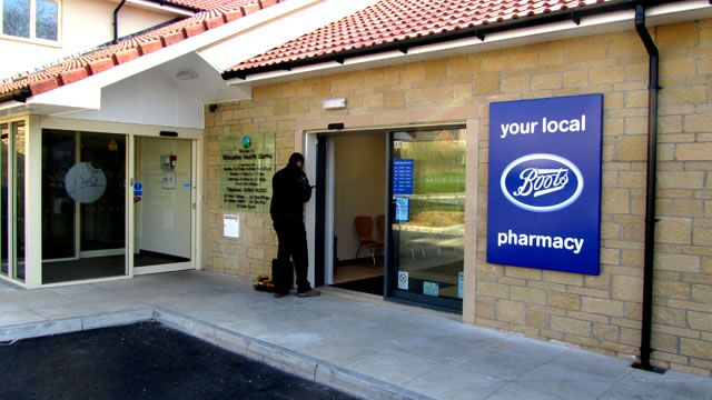 New Wincanton Boots pharmacy entrance