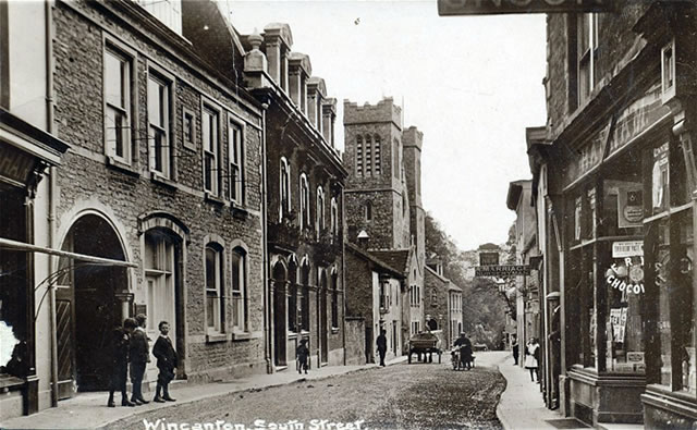 An old photo of South Street, Wincanton
