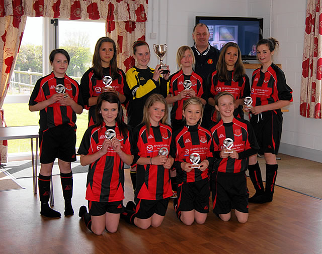Under 13s Somerset Girls League Cup winners, Bishops Lydeard