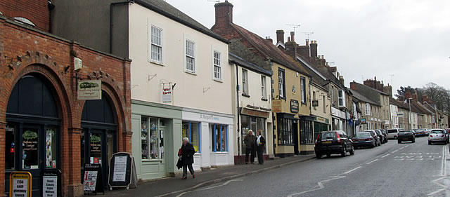 Wincanton High Street, just across the road from Papertrees!