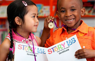 Olympic-style Story Lab medal