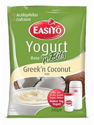 Easiyo Greek 'n Coconut yoghurt