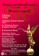 Wincanton Choral Society Winter Concert on 9th December