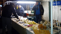 Anonymous Travelling Market, cheese stall