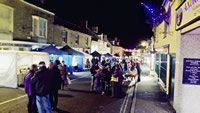 Wincanton High Street, bustling with activity