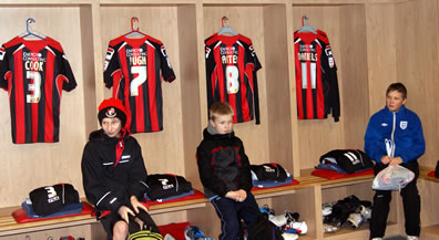 Home-side changing room