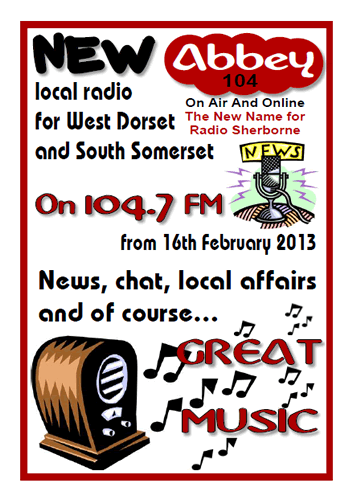 Abbey 104 radio station poster