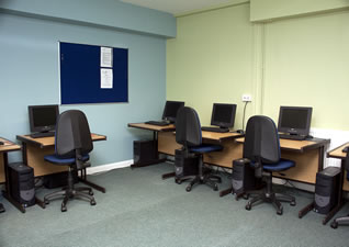 Computer room at the Balsam Centre