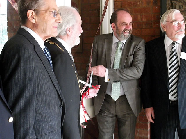 David Heath MP, still cutting the ribbon