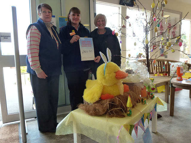 Paula Russell and friends of Wincanton Community Hospital