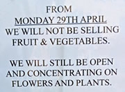The Market Garden No Longer Sells Fruit or Veg