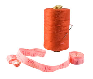 Needle, thread and tape-measure