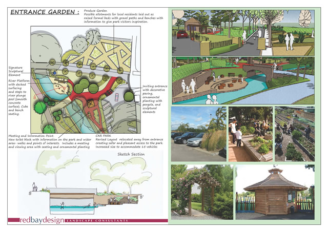 Cale Park entrance garden plan