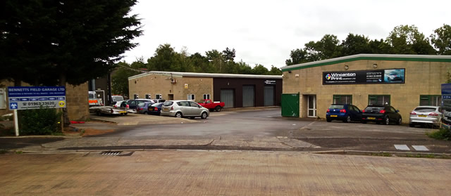 Part of the Bennetts Field Trading Estate in Wincanton