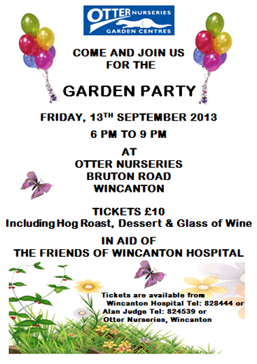 Garden Party in support of Wincanton Community Hospital, at Otter Nurseries