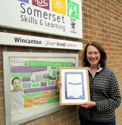 Somerset Skills & Learning Award Presented in Wincanton