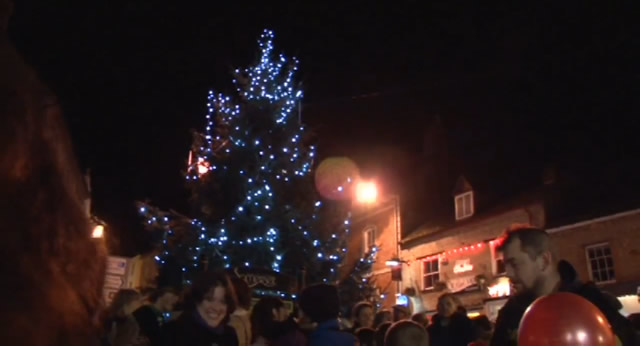 Turning on of the lights during last year's carol singing