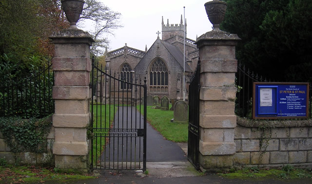 Here are the Church gates before they were demolished by a very naughty boy