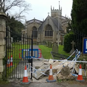 Police Arrest Driver After Crashing Into Church Gates