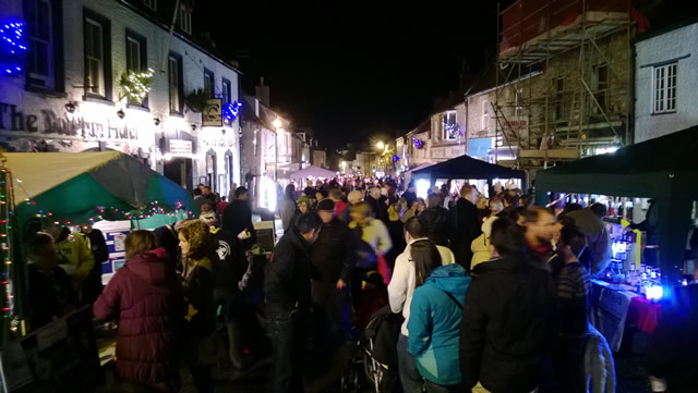 Wincanton High Street bustling with people