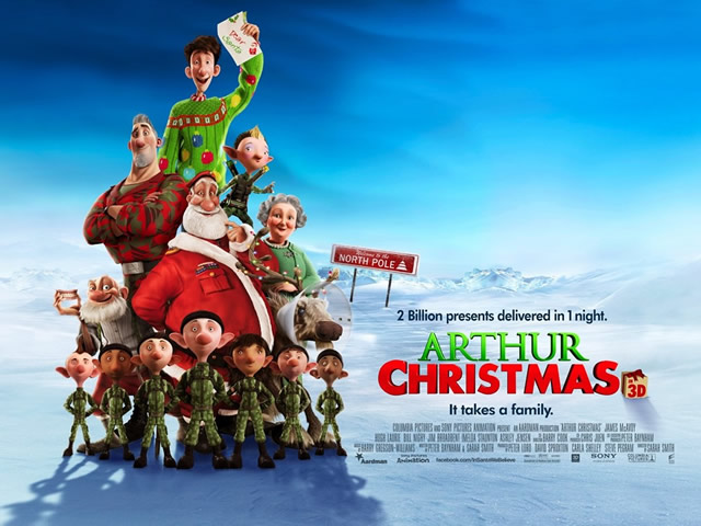 Arthur Christmas, showing at The Bear Inn, Wincanton, Saturday 4th January 2014