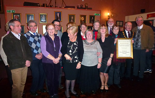 Friends of Wincanton Community Hospital with their award
