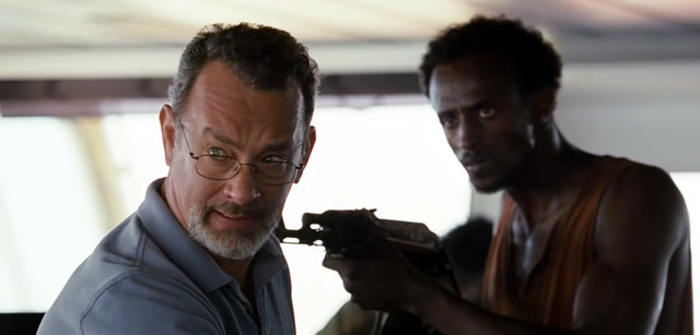 Captain Phillips, taken hostage by Somali pirates