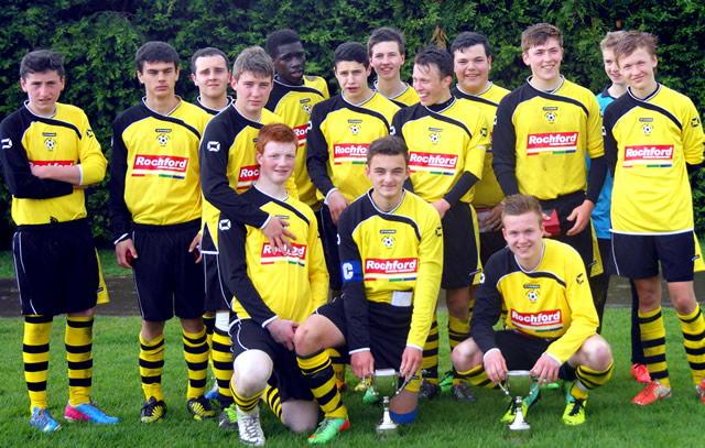 Wincanton Town Football Club Youth Section Under 16s team photo
