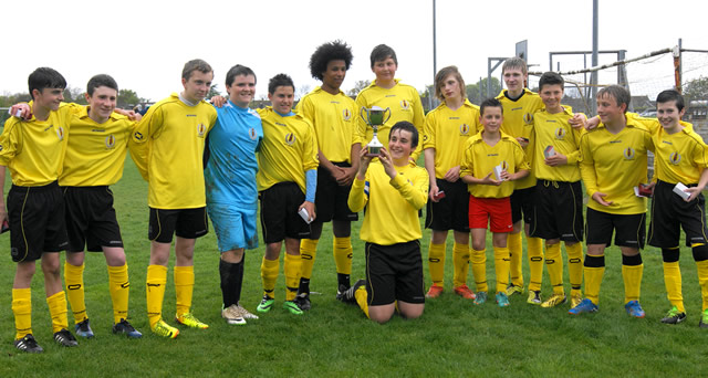 Wincanton Town Football Club Youth Section Under 14s team photo
