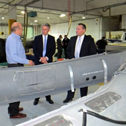 Defence Secretary Philip Hammond MP Visits Henshaw Inflatables